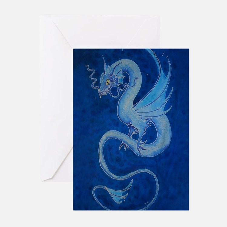 Mystical Blue Dragon Greeting Cards