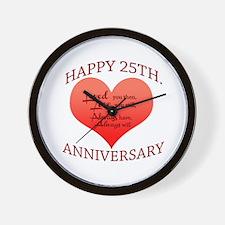 25th. Anniversary Wall Clock