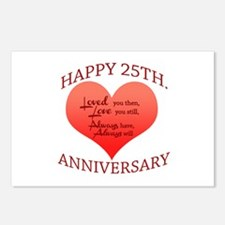 25th. Anniversary Postcards (Package of 8)