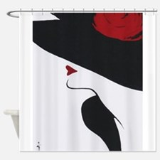 Vintage Fashion Black Hat Shower Curtain