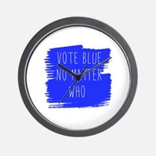 Vote Blue No Matter Who Wall Clock