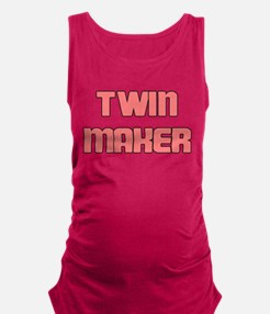 TWIN MAKER PINK Maternity Tank Top