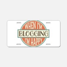 happy blogger Aluminum License Plate