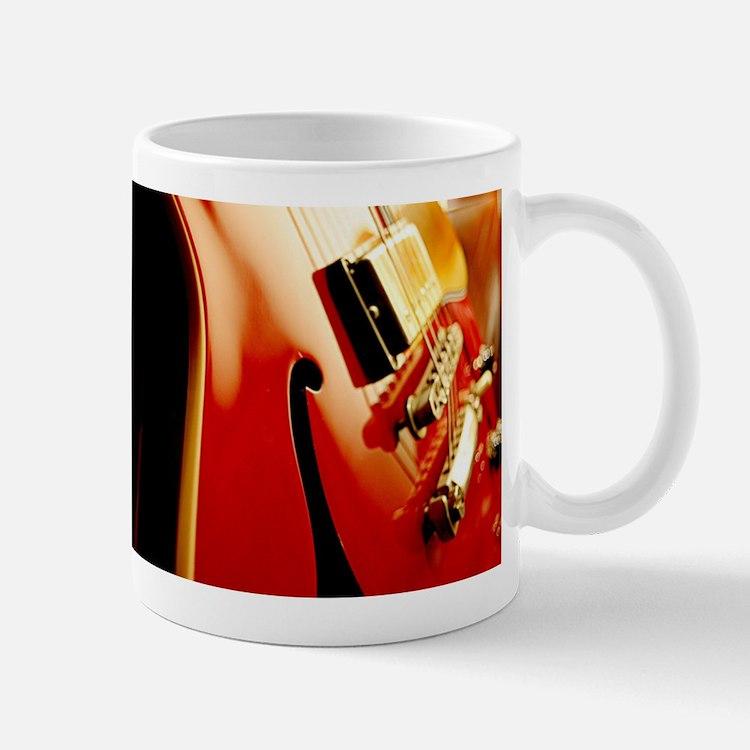 Jazz Guitar Closeup Mugs