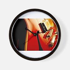 Jazz Guitar Closeup Wall Clock
