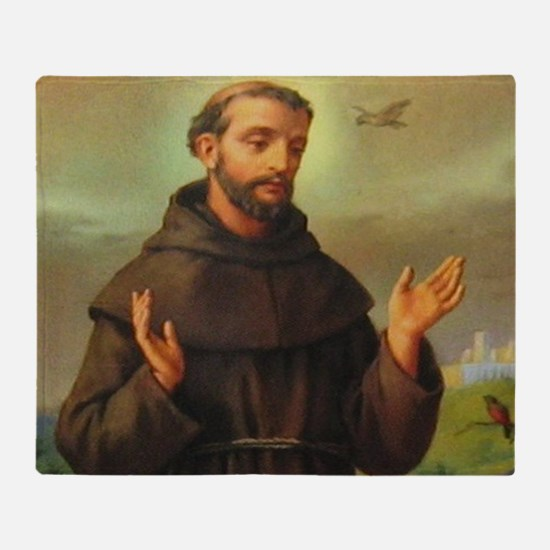St. Francis of Assisi Throw Blanket