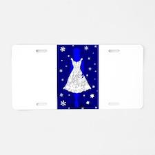 Snow Queen Aluminum License Plate