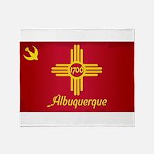 Albuquerque City Flag Throw Blanket