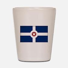 Indianapolis City Flag Shot Glass