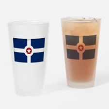 Indianapolis City Flag Drinking Glass
