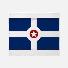 Indianapolis City Flag Throw Blanket