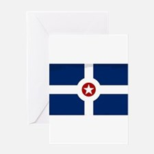 Indianapolis City Flag Greeting Cards