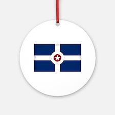 Indianapolis City Flag Round Ornament