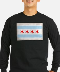 Chicago City Flag Long Sleeve T-Shirt