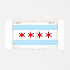 Chicago City Flag Aluminum License Plate