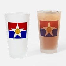 Dallas City Flag Drinking Glass