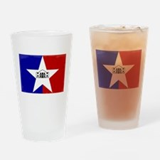 San Antonio City Flag Drinking Glass