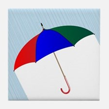 Umbrella In The Rain Tile Coaster