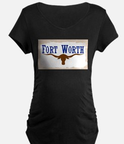Flag of Fort Worth Maternity T-Shirt