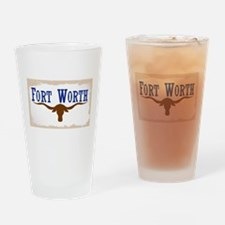 Flag of Fort Worth Drinking Glass