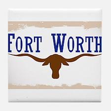 Flag of Fort Worth Tile Coaster