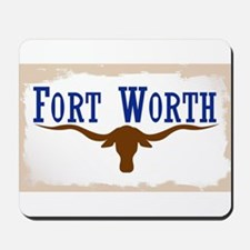 Flag of Fort Worth Mousepad