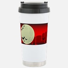 Vampire Bats Background Stainless Steel Travel Mug