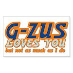 G-ZUS LOVES YOU Rectangle Sticker