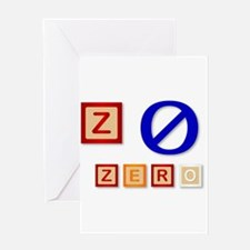 Z Is For Zero Greeting Cards