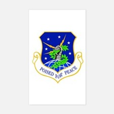 91st Missile Wing Crest Sticker (rectangle)