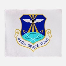 460th Space Wing Crest Throw Blanket