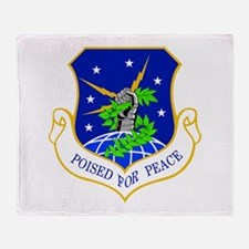 91st Missile Wing Crest Throw Blanket