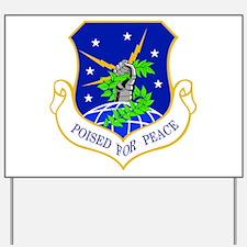 91st Missile Wing Crest Yard Sign