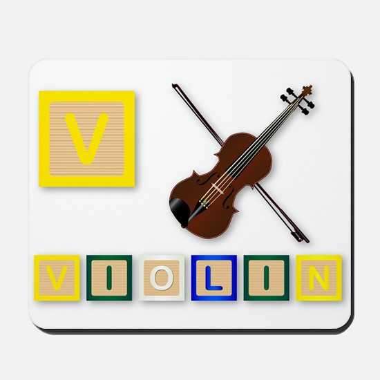 V Is For Violin Mousepad