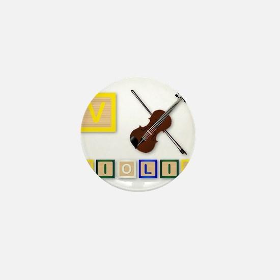 V Is For Violin Mini Button