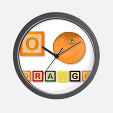 O Is For Orange Wall Clock