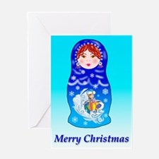 Nesting Doll Christmas Greeting Card