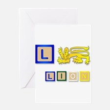 L Is For Lion Greeting Cards