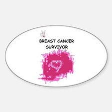 BREAST CANCER SURVIVOR Oval Decal