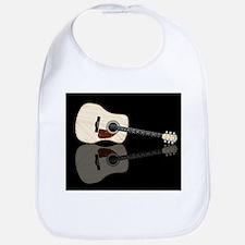 Pale Acoustic Guitar Reflection Bib