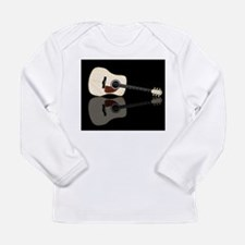 Pale Acoustic Guitar Reflectio Long Sleeve T-Shirt