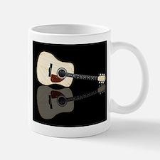 Pale Acoustic Guitar Reflection Mugs