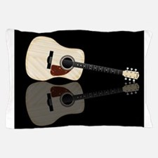 Pale Acoustic Guitar Reflection Pillow Case