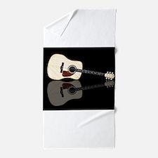 Pale Acoustic Guitar Reflection Beach Towel