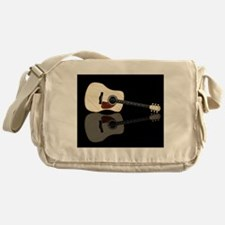 Pale Acoustic Guitar Reflection Messenger Bag