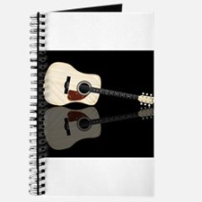 Pale Acoustic Guitar Reflection Journal
