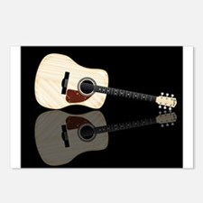 Pale Acoustic Guitar Refl Postcards (Package of 8)