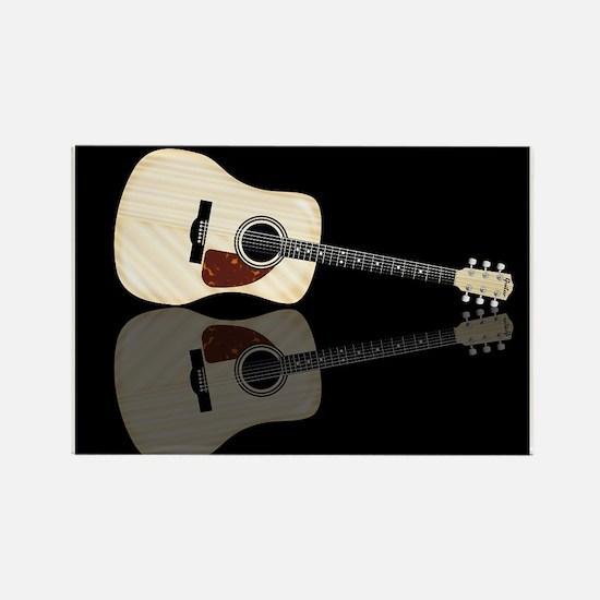 Pale Acoustic Guitar Reflection Magnets
