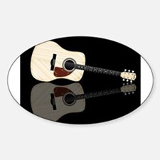 Pale Acoustic Guitar Reflection Decal