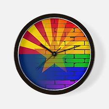 Gay Rainbow Wall Arizona Flag Wall Clock